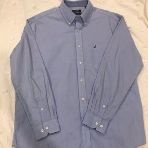 Nautica Men's Classic Fit Casual Button Down Blue